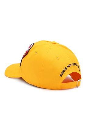 Мужской хлопковая бейсболка DSQUARED2 желтого цвета, арт. BCM0164 05C00001 | Фото 2