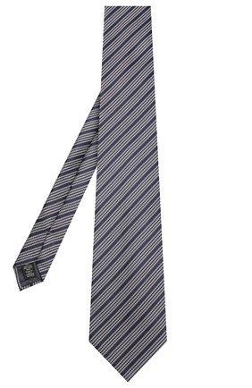 Мужской шелковый галстук ERMENEGILDO ZEGNA синего цвета, арт. Z5E18/1XW   Фото 2