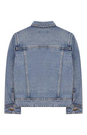 Детского джинсовая куртка harald MOLO голубого цвета, арт. 1S19M301 | Фото 2