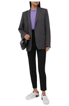 Женские кожаные кеды portofino DOLCE & GABBANA красного цвета, арт. CK1587/AH526 | Фото 2 (Подошва: Платформа; Материал внутренний: Натуральная кожа; Статус проверки: Проверено, Проверена категория)
