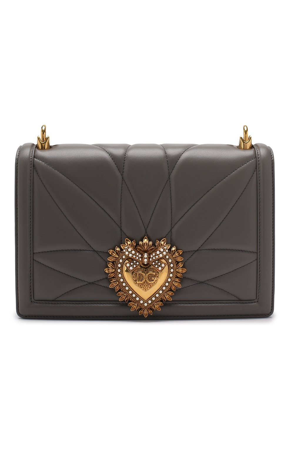 Сумка Devotion medium Dolce & Gabbana серая цвета | Фото №1