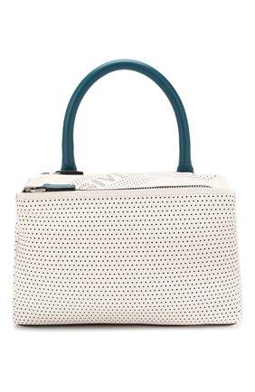 Кожаная сумка Pandora small Givenchy белая цвета | Фото №1