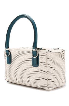 Кожаная сумка Pandora small Givenchy белая цвета | Фото №3