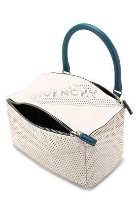 Кожаная сумка Pandora small Givenchy белая цвета | Фото №4