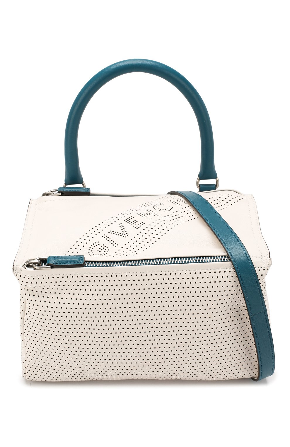 Кожаная сумка Pandora small Givenchy белая цвета | Фото №6