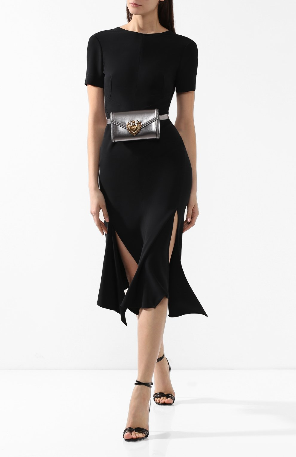 Поясная сумка Devotion Dolce & Gabbana серебряная | Фото №2