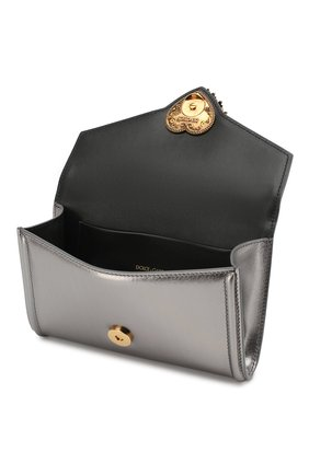 Поясная сумка Devotion Dolce & Gabbana серебряная | Фото №4