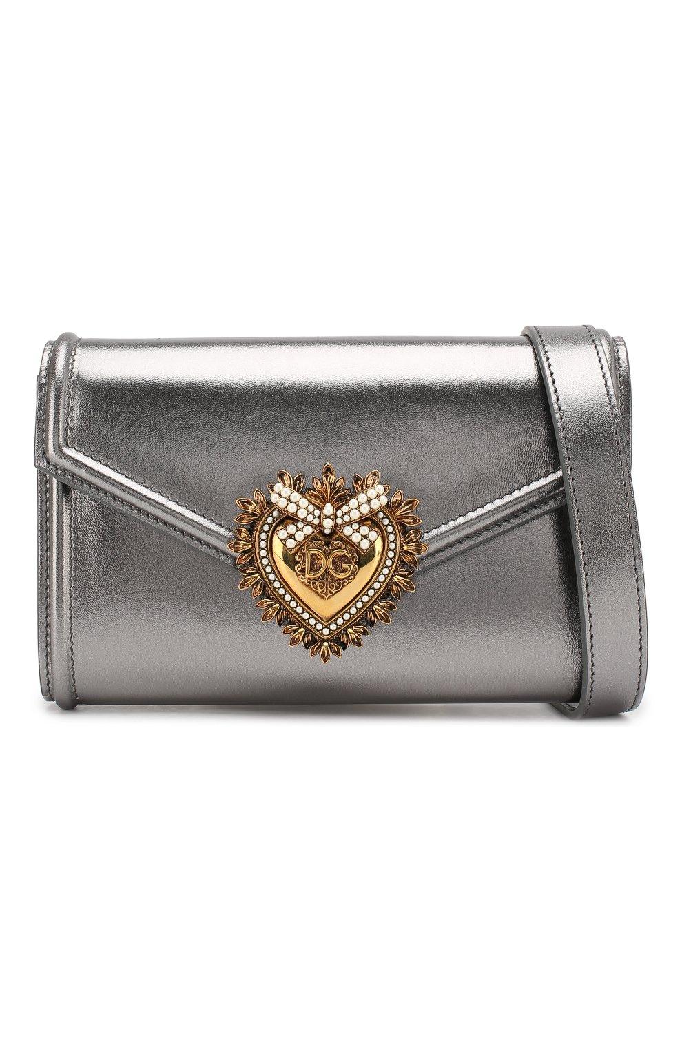 Поясная сумка Devotion Dolce & Gabbana серебряная | Фото №5