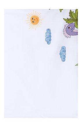 Детского хлопковый пододеяльник LORETTA CAPONI белого цвета, арт. 191K23318301701 | Фото 1