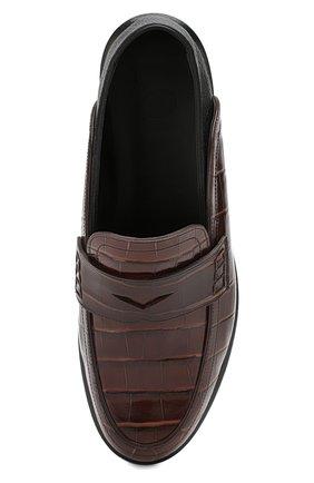 Кожаные пенни-лоферы Loewe коричневые | Фото №5