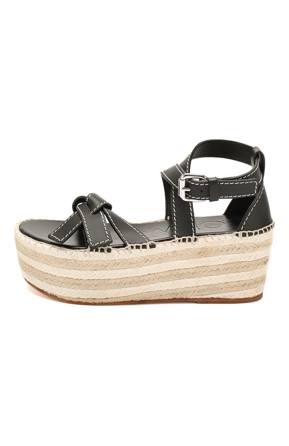 Кожаные сандалии Gate Loewe черные | Фото №3