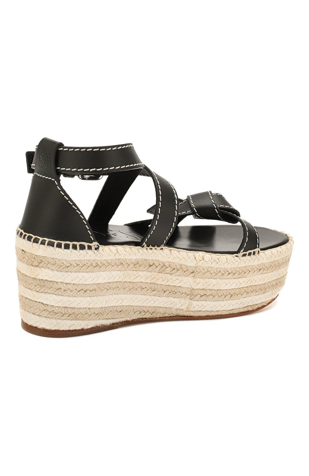 Кожаные сандалии Gate Loewe черные | Фото №4
