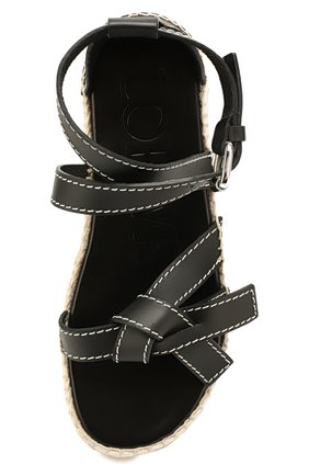 Кожаные сандалии Gate Loewe черные | Фото №5
