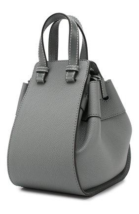 Кожаная сумка Hammock Loewe темно-серая цвета | Фото №3
