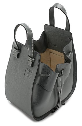 Кожаная сумка Hammock Loewe темно-серая цвета | Фото №4