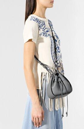 Кожаная сумка Hammock Loewe темно-серая цвета | Фото №5