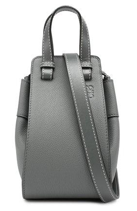 Кожаная сумка Hammock Loewe темно-серая цвета | Фото №6