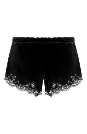 Женские шелковые шорты DOLCE & GABBANA черного цвета, арт. 03A02T/FUAD8 | Фото 1