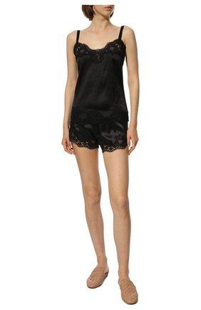 Женские шелковые шорты DOLCE & GABBANA черного цвета, арт. 03A02T/FUAD8 | Фото 2