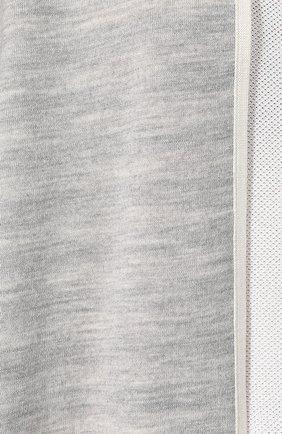 Накидка из смеси шерсти и вискозы St. John светло-серая | Фото №5