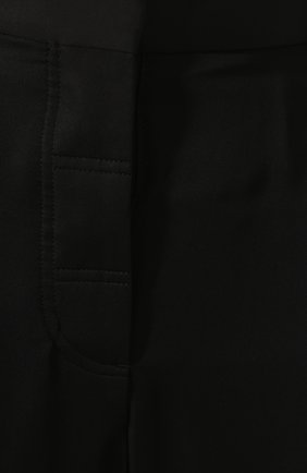 Брюки из вискозы и шелка Victoria Beckham черные   Фото №5