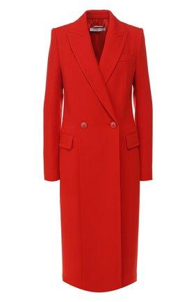 Женское шерстяное пальто GIVENCHY красного цвета, арт. BWC04011E1 | Фото 1