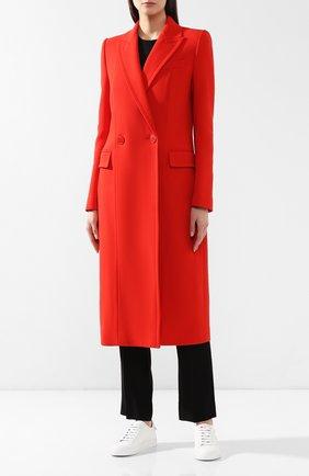 Женское шерстяное пальто GIVENCHY красного цвета, арт. BWC04011E1 | Фото 3