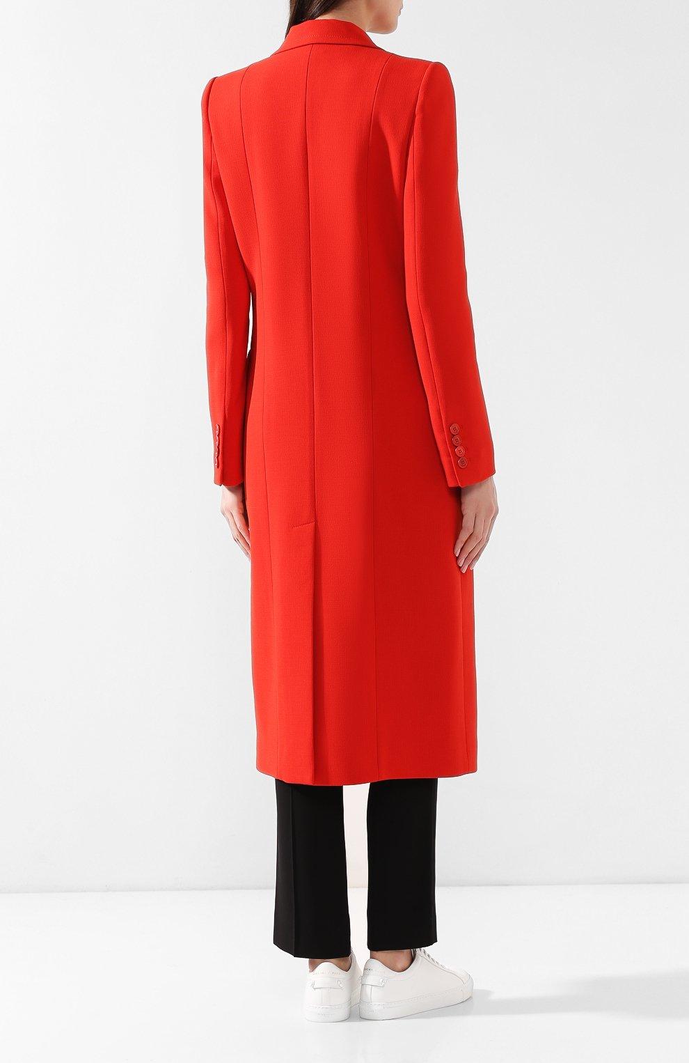Женское шерстяное пальто GIVENCHY красного цвета, арт. BWC04011E1 | Фото 4