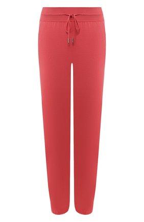 Женские джоггеры из смеси шелка и хлопка LORO PIANA розового цвета, арт. FAF2340   Фото 1