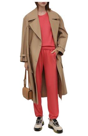 Женские джоггеры из смеси шелка и хлопка LORO PIANA розового цвета, арт. FAF2340   Фото 2