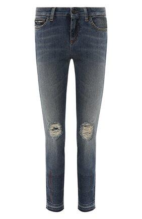 Женские джинсы DOLCE & GABBANA темно-синего цвета, арт. FTAQWZ/G8V47   Фото 1