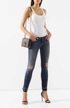 Женские джинсы DOLCE & GABBANA темно-синего цвета, арт. FTAQWZ/G8V47   Фото 2