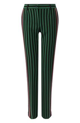 Женские брюки в полоску DOLCE & GABBANA зеленого цвета, арт. FTBF0T/HSMYQ | Фото 1