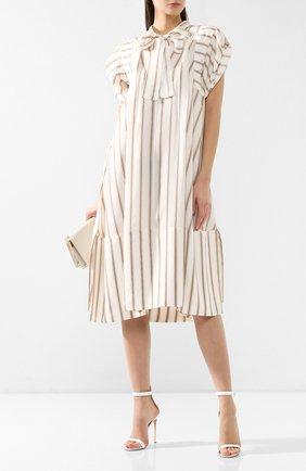 Шелковое платье Chloé бежевое | Фото №2