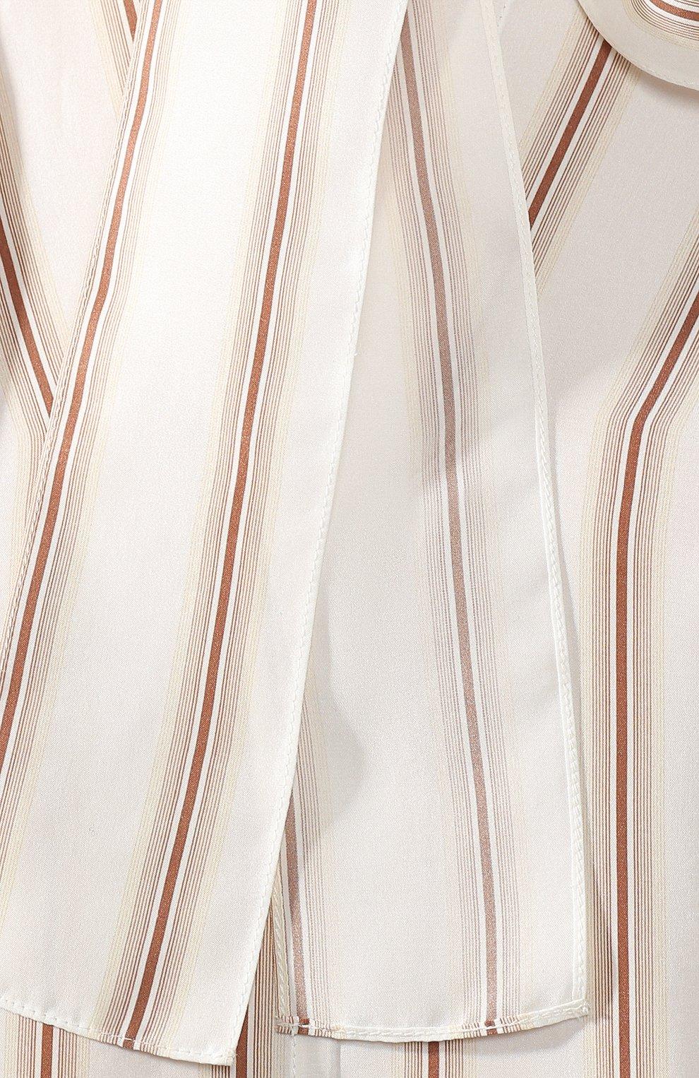Шелковое платье Chloé бежевое | Фото №5