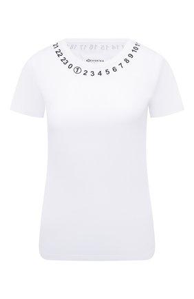 Женская хлопковая футболка MAISON MARGIELA белого цвета, арт. S51GC0434/S22816 | Фото 1