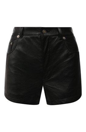 Женские кожаные шорты SAINT LAURENT черного цвета, арт. 561313/YC2UE | Фото 1