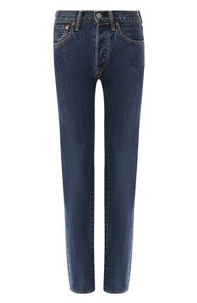 Женские джинсы прямого кроя BURBERRY синего цвета, арт. 8008247 | Фото 1