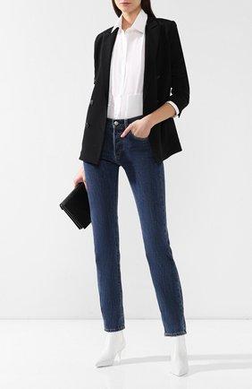 Женские джинсы прямого кроя BURBERRY синего цвета, арт. 8008247 | Фото 2