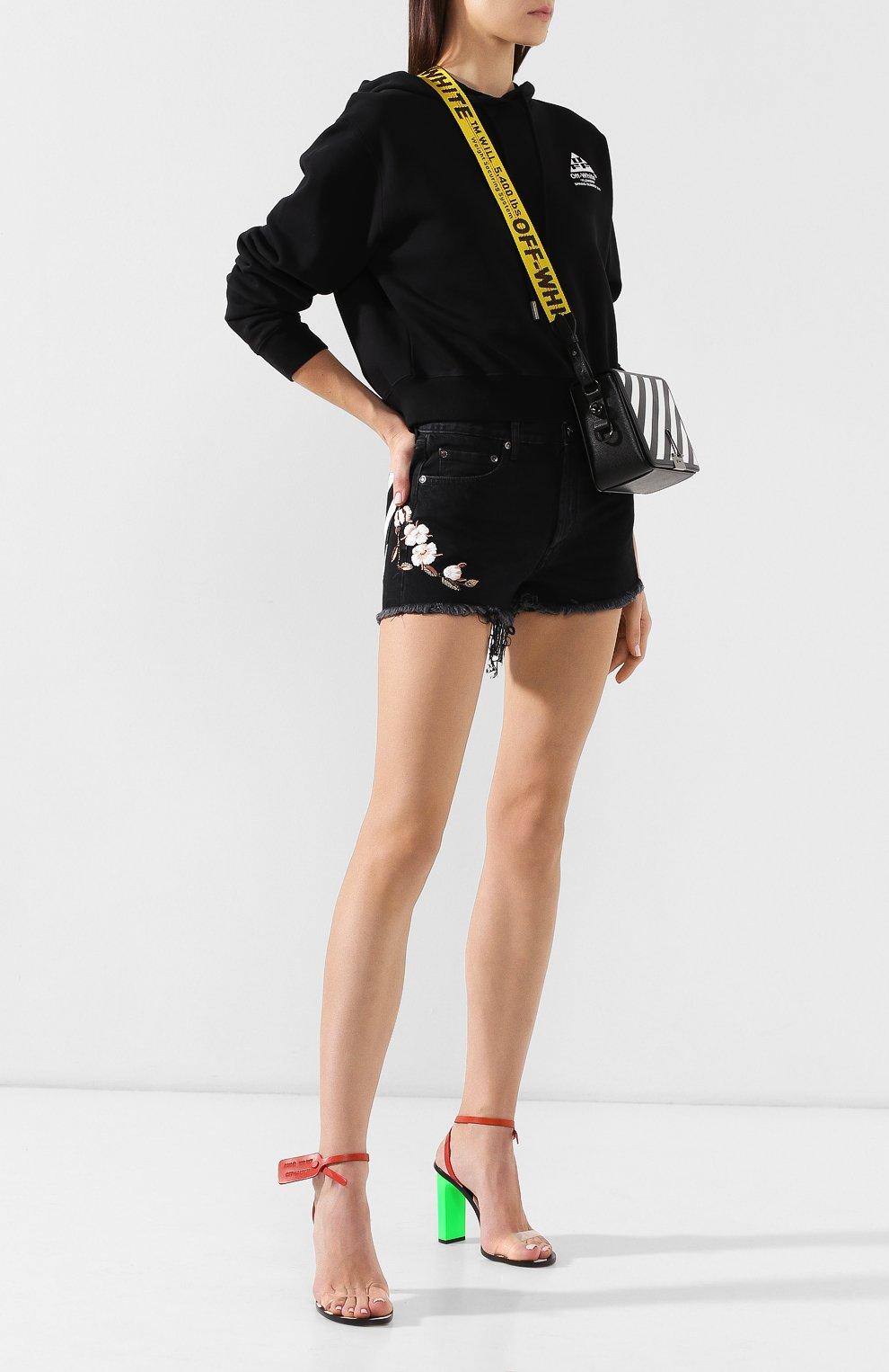 Джинсовые шорты Off-White черные | Фото №2