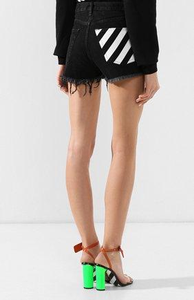 Джинсовые шорты Off-White черные | Фото №4