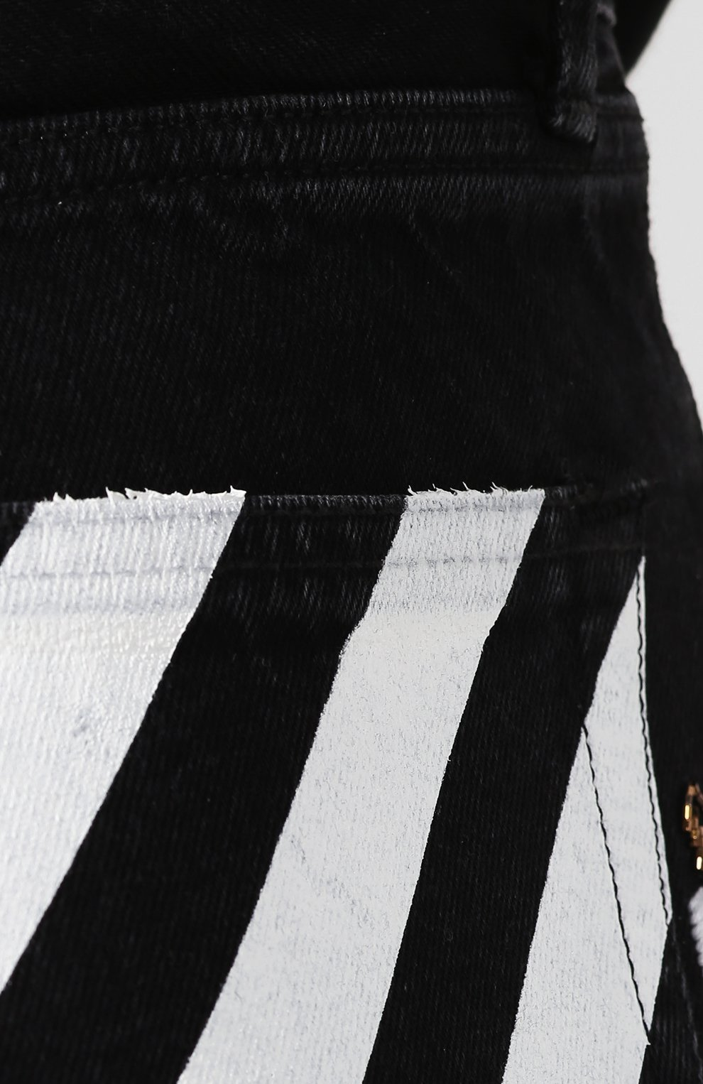 Джинсовые шорты Off-White черные | Фото №5