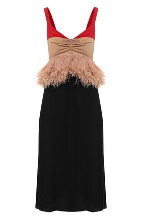 Платье с  перьевой отделкой | Фото №1