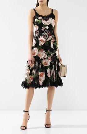 Платье с принтом Dolce & Gabbana разноцветное   Фото №2