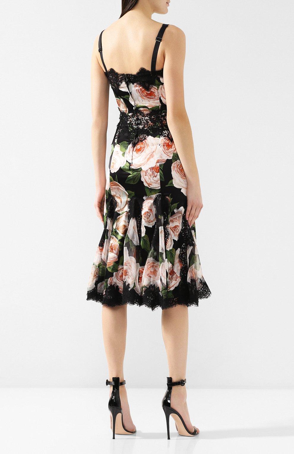 Платье с принтом Dolce & Gabbana разноцветное   Фото №4