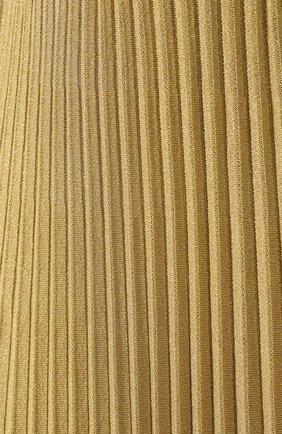 Платье из вискозы Ralph Lauren золотое   Фото №5