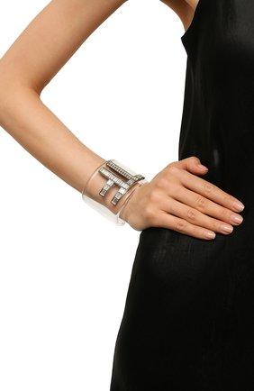Женский браслет-кафф с отделкой кристаллами TOM FORD прозрачного цвета, арт. JW0811-PLST0 | Фото 2