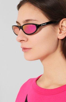 Мужские солнцезащитные очки BALENCIAGA фиолетового цвета, арт. 570487/T0015 | Фото 2