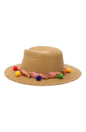 Шляпа с декоративной отделкой Eric Javits темно-бежевого цвета | Фото №2