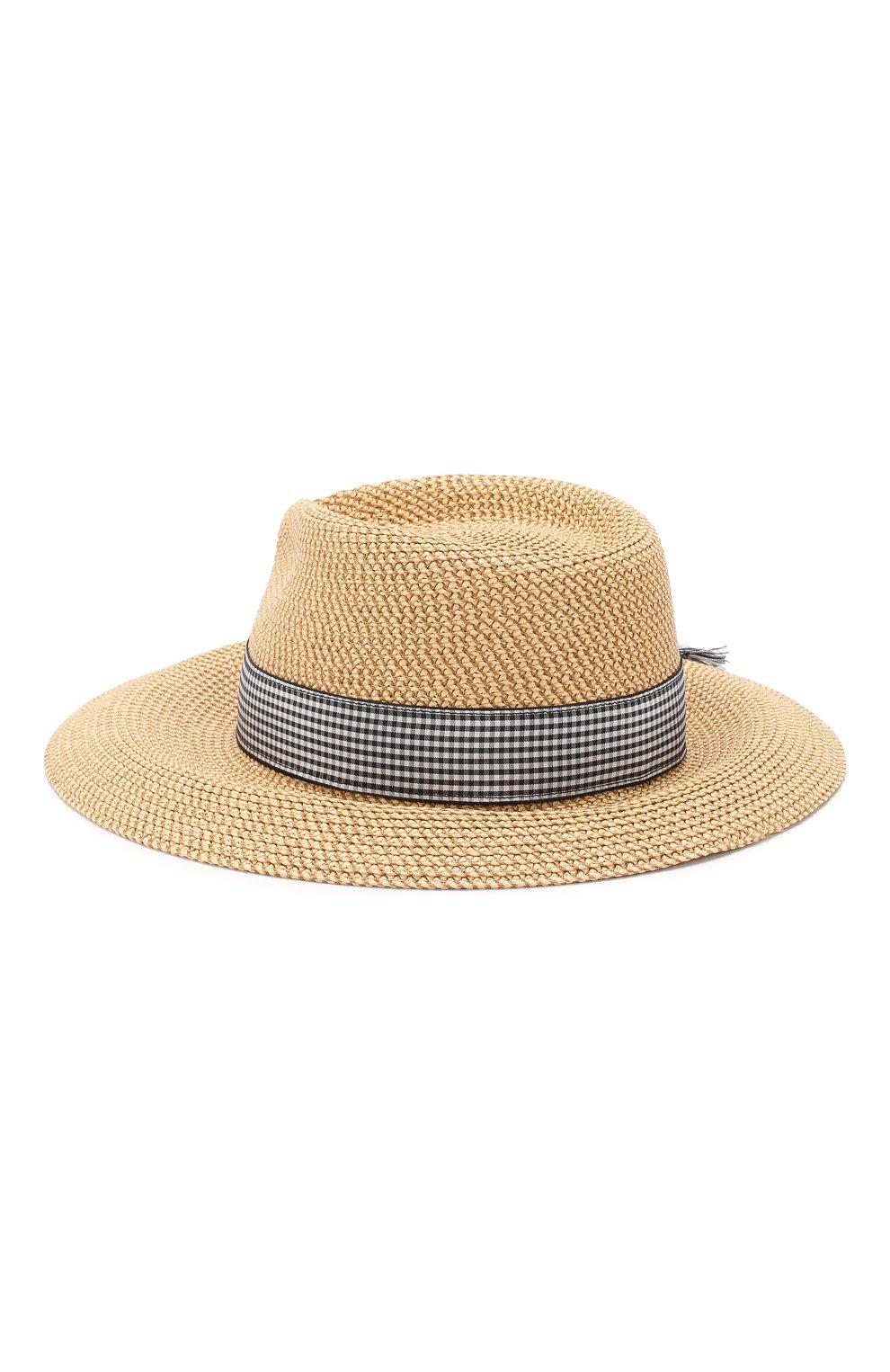 Шляпа с лентой Eric Javits бежевого цвета | Фото №2